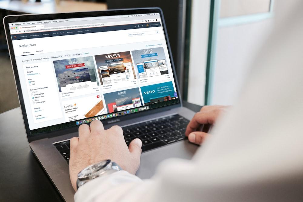 person using MacBook Pro