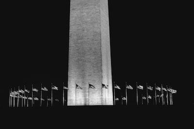 grayscale photography of monument washington monument zoom background