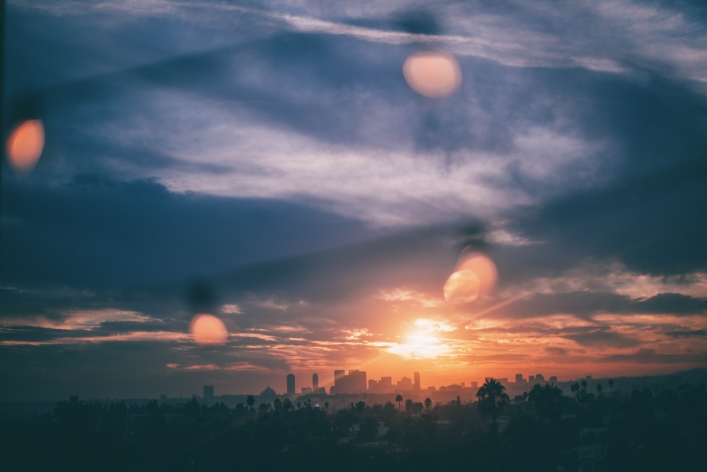 aerial photography of city during sunset