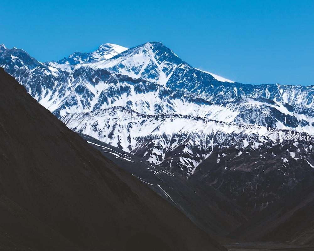 landscape photography of snowcap mountain