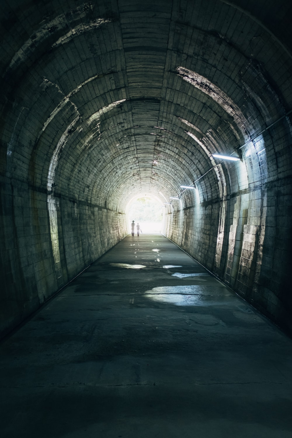 tunnel leading to white light