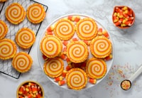 """Candy Corn"" Spiral Sugar Cookies"