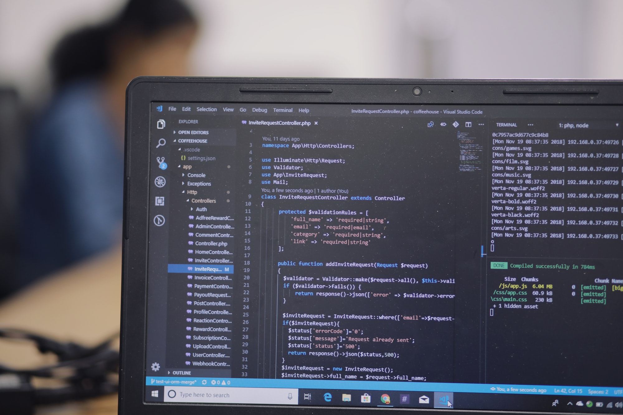Development with Laravel & JS