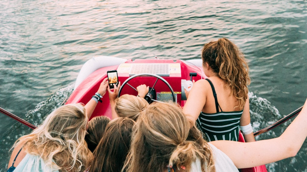 women on boat