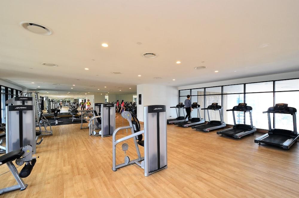 black and gray treadmill