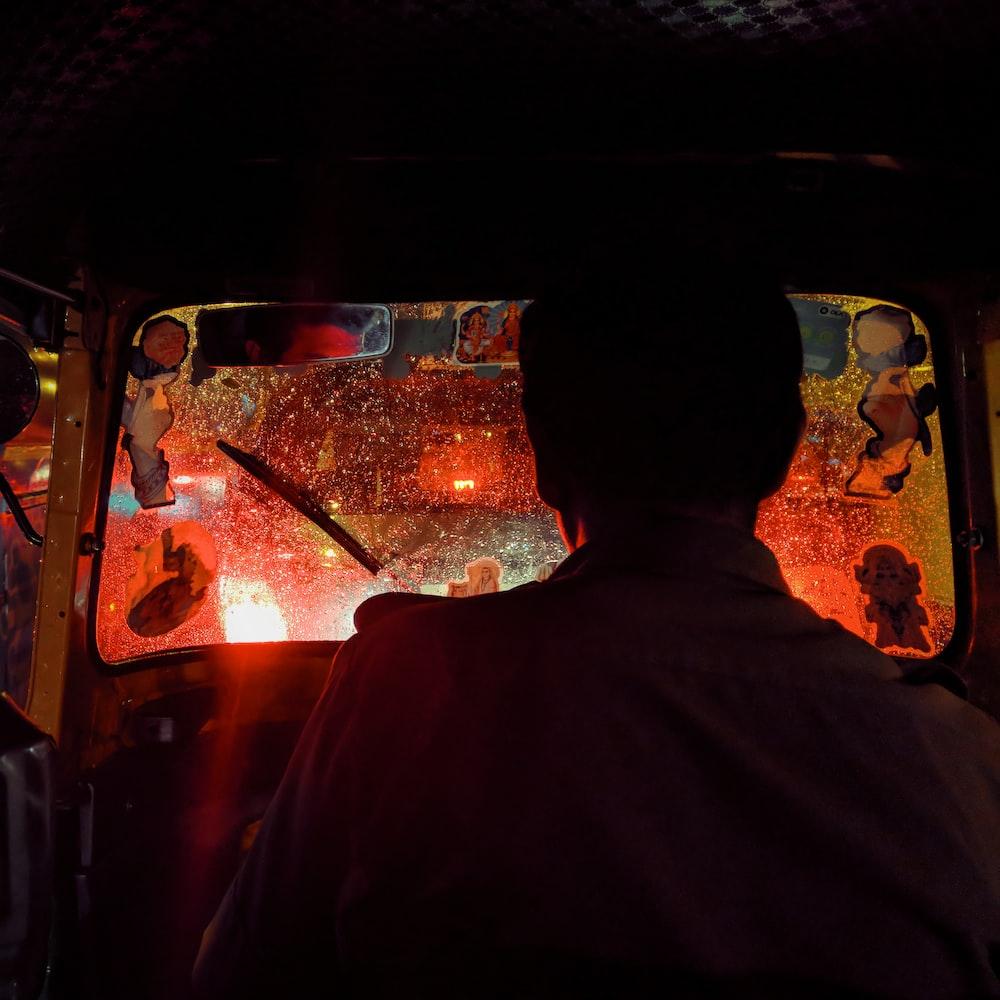 man in auto-rickshaw