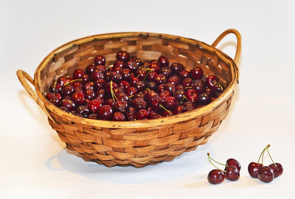 basket of red berries