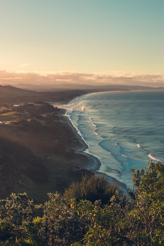 beach and land
