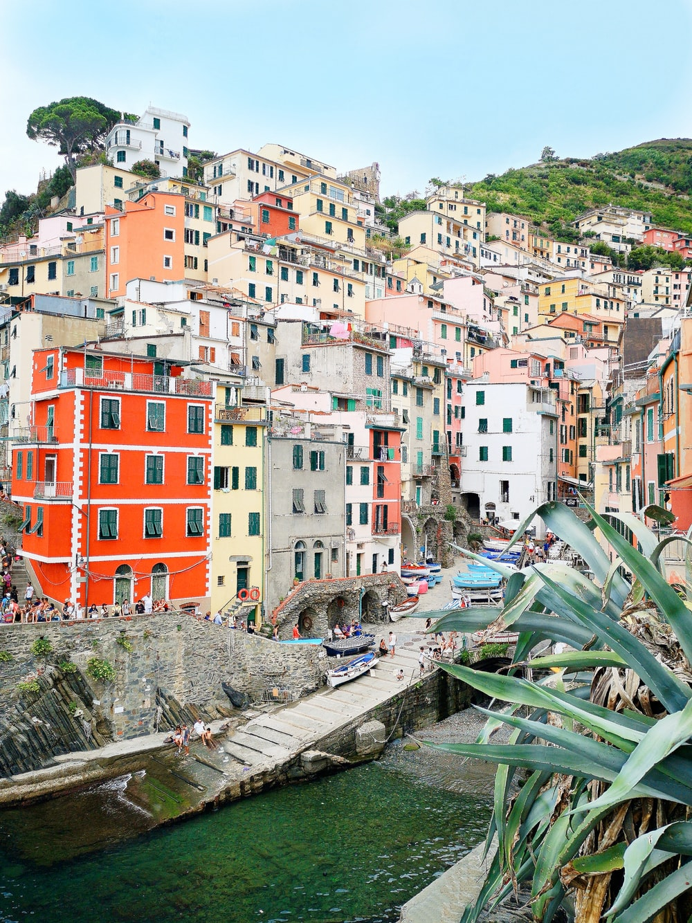 multicolored buildings near body of water