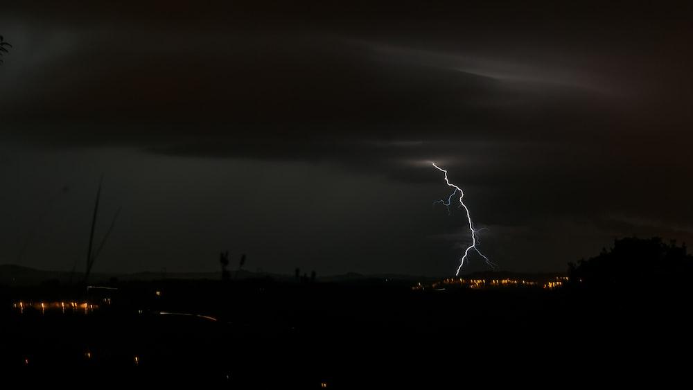 lightning thunder at night