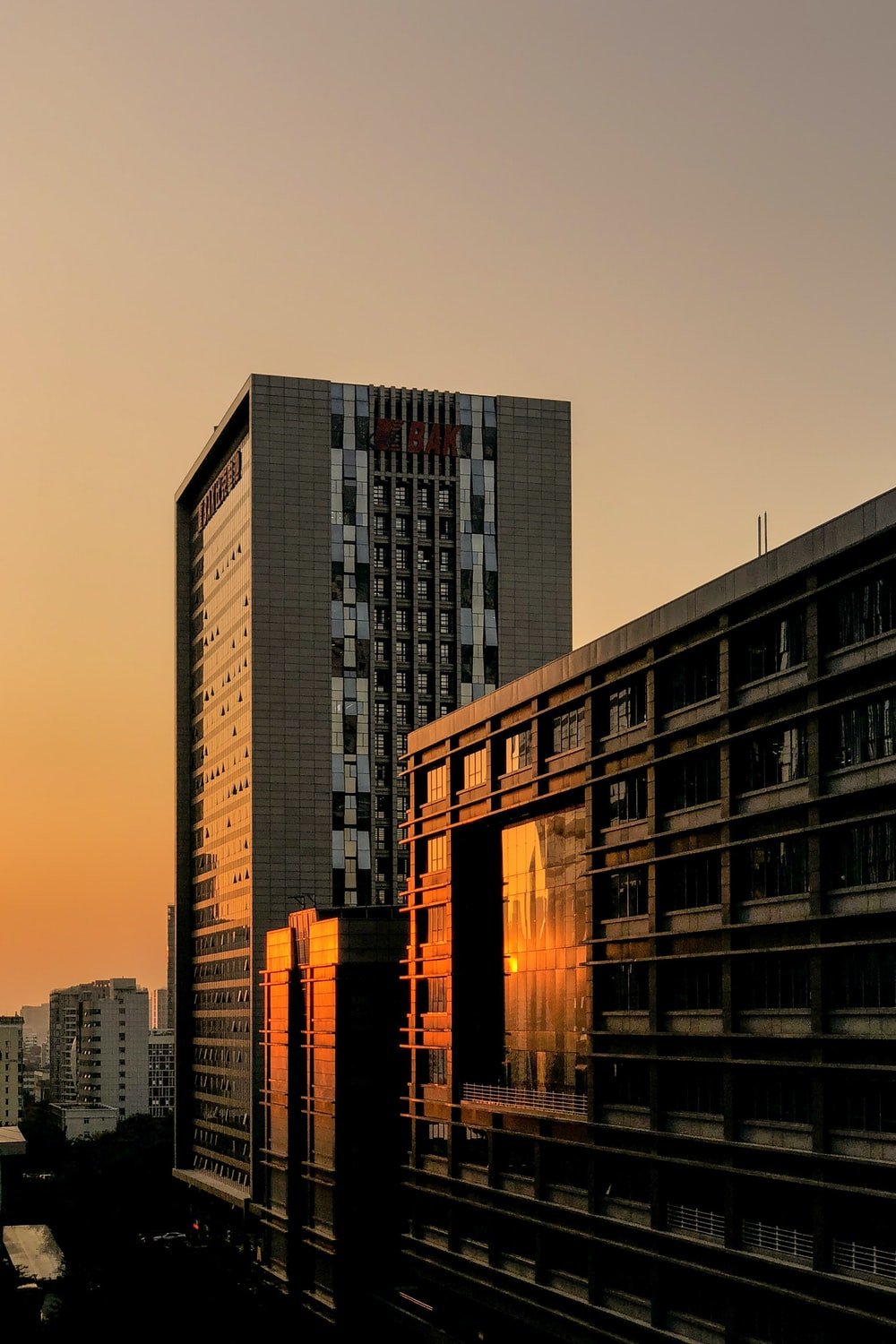 silhouette photography of concrete buildings