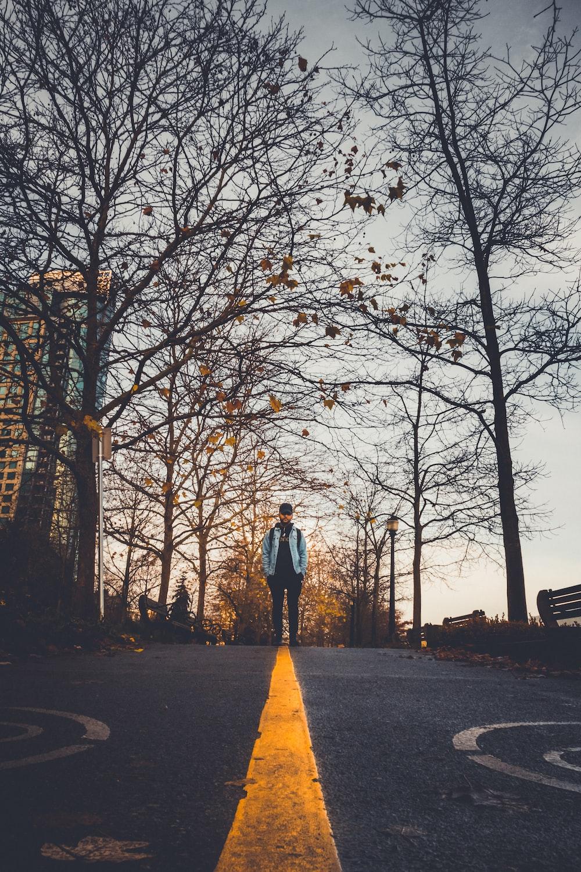 man standing on the street