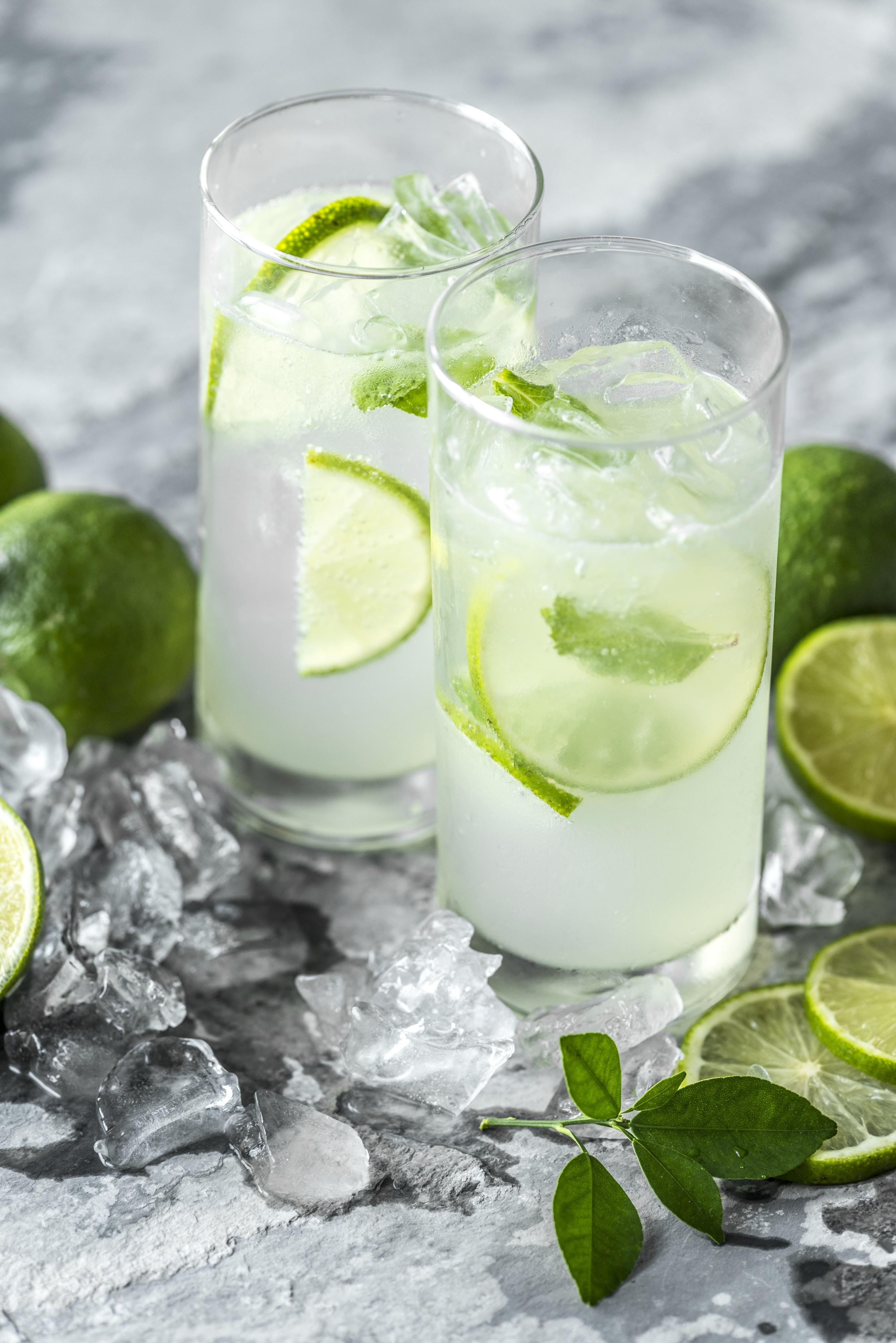 two lemon drinks