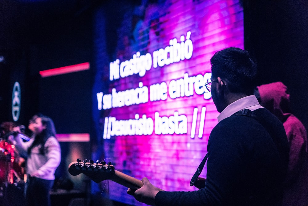 musician performing on stage