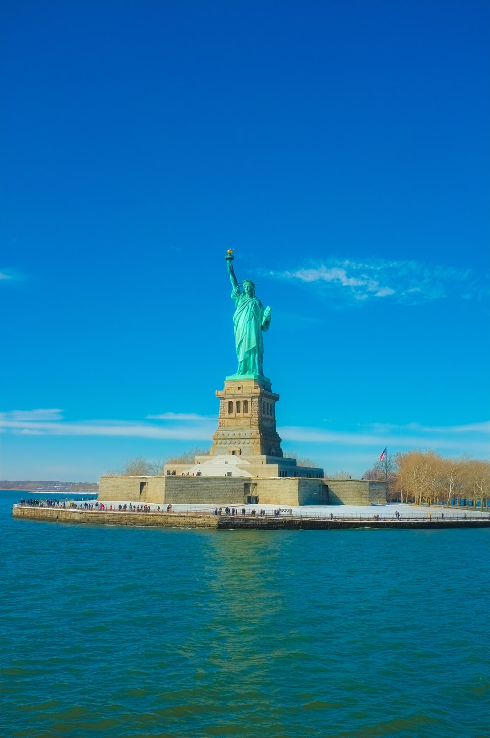 Statue Liberty during daytime