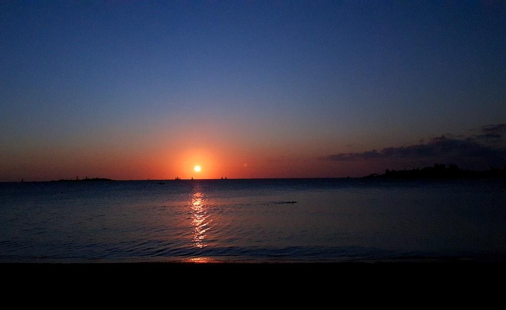 golden hour view at ocean