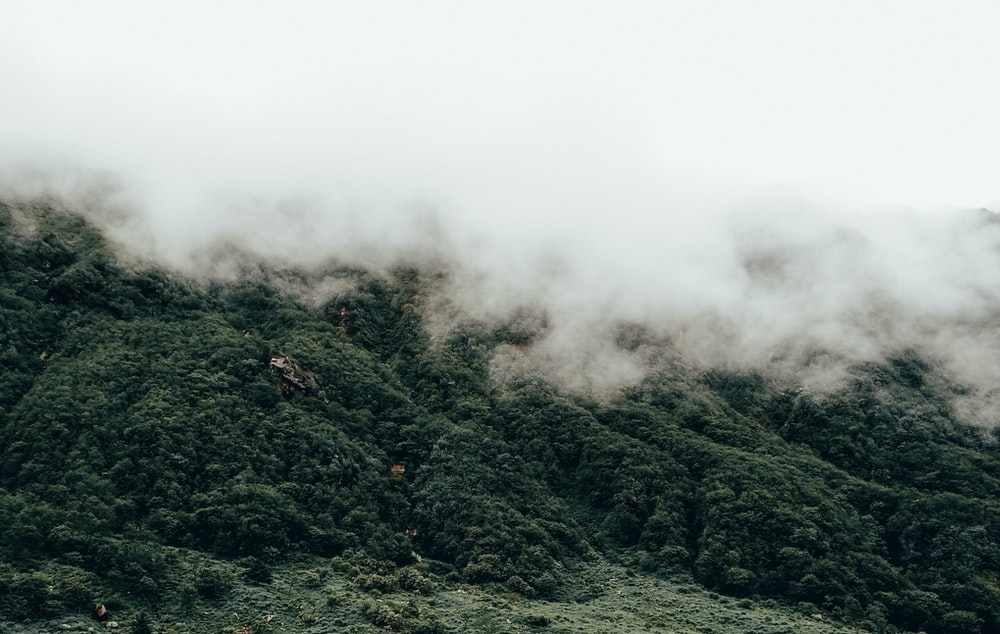 mountain aerial photo