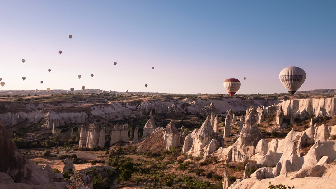 Hot air balloons in Cappadocia - Kapadoya Turkey
