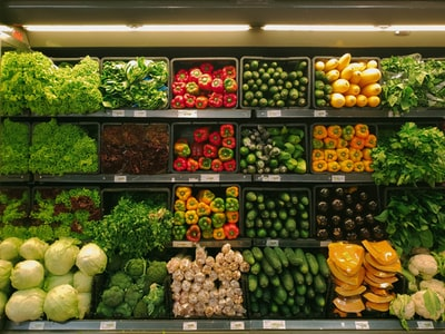 bunch of vegetables shop zoom background