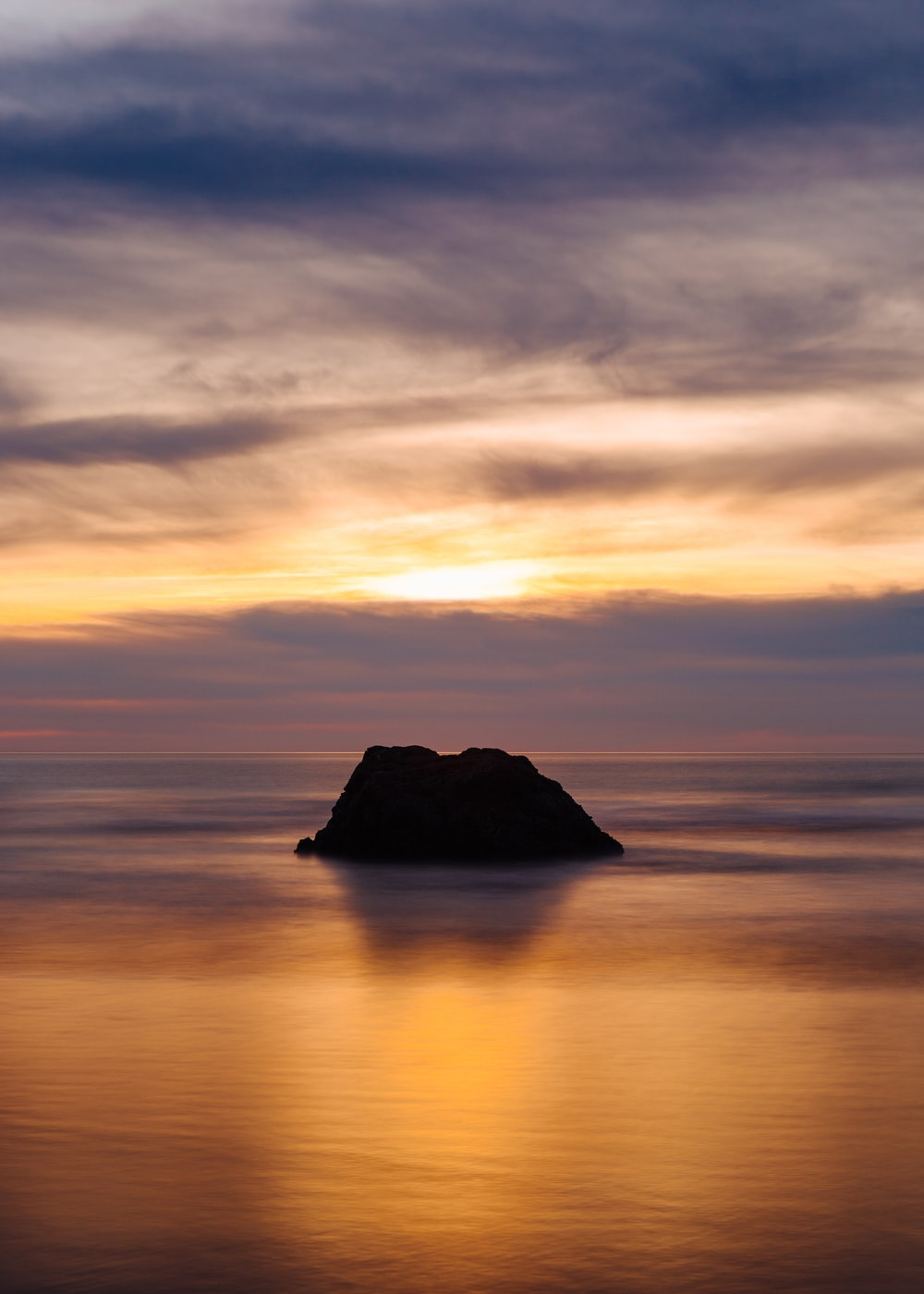 silhouette of island