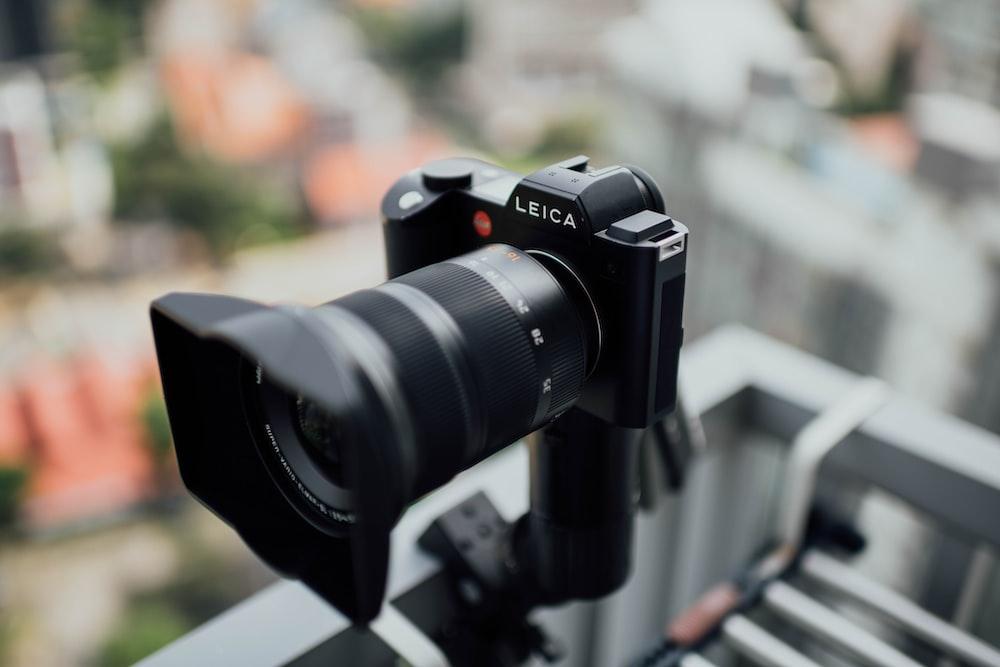 black Leica bridge camera