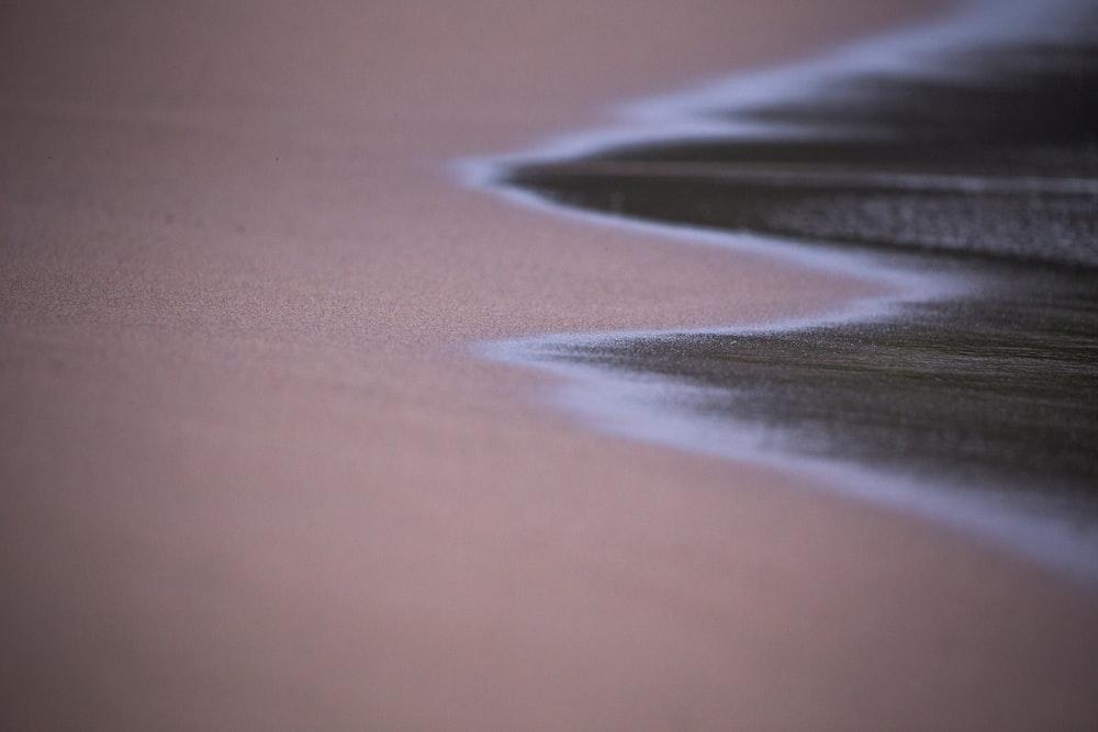 brown sandy beach
