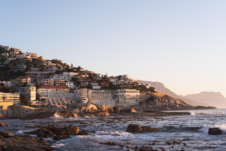 high rise buildings near ocean