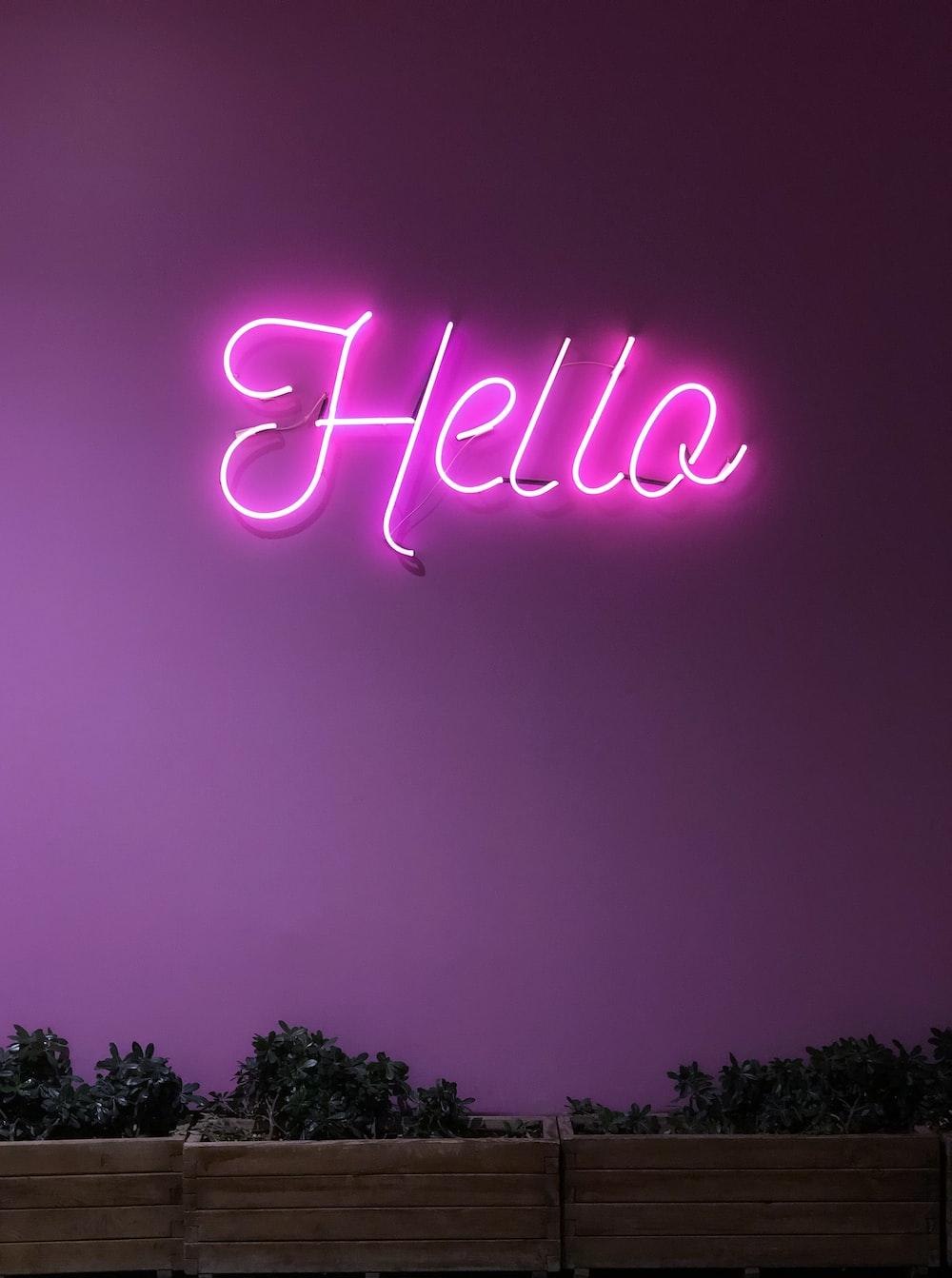 Hello neon signage screenshot