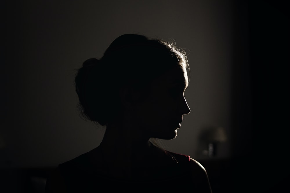 silhouette of woman