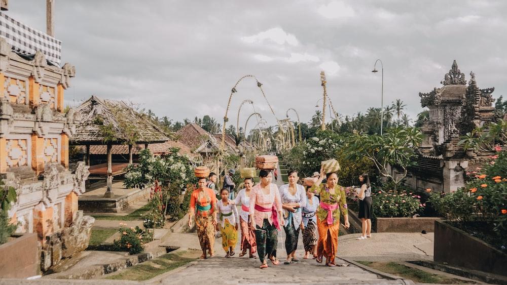 women walking at the park