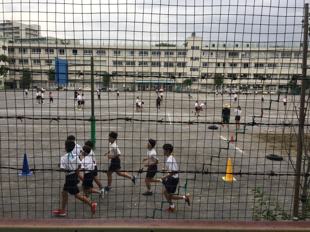 group of children plallying on ground