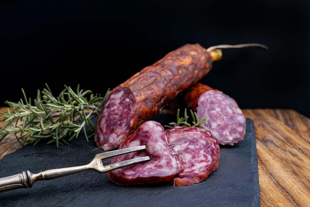 Delicious salami from a local butcher in Graz