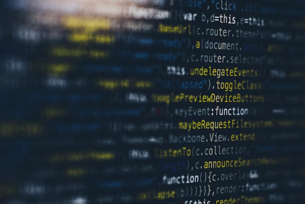 computer coding screengrab