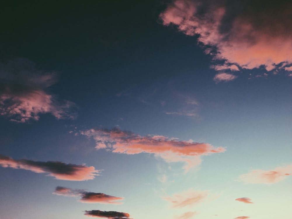 gloomy sky during golden hour