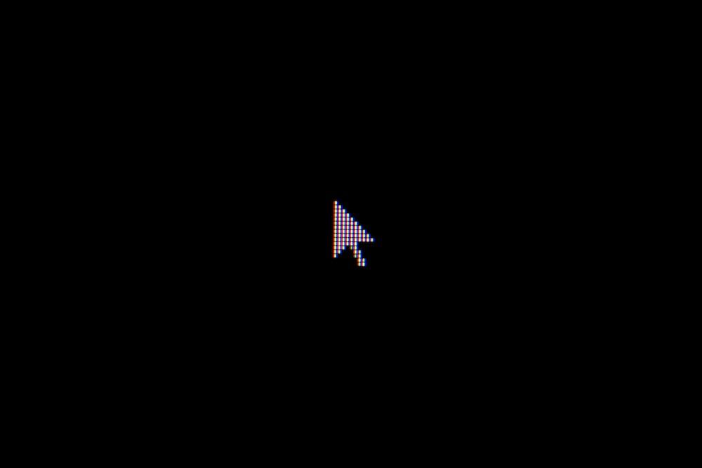 cursor on black background