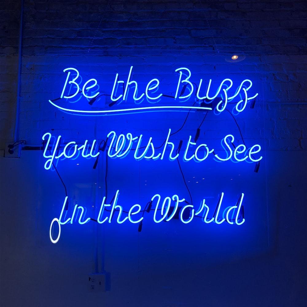 blue LED signage