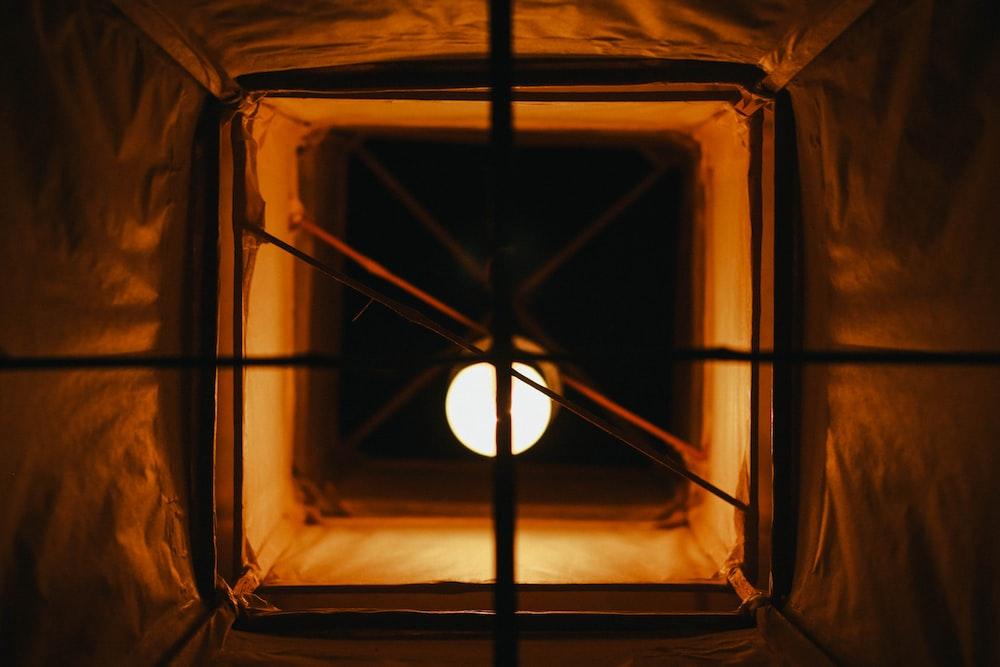 long-angle photography of lighted bulb