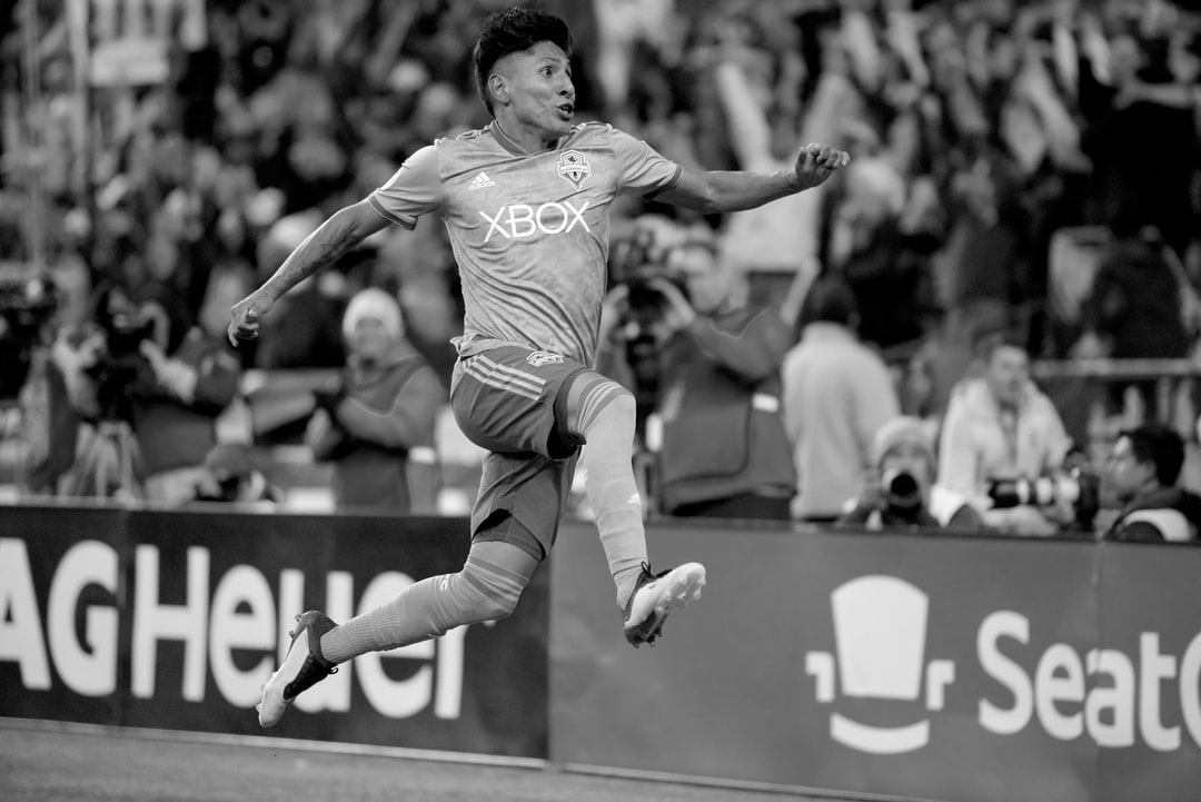 Seattle Sounders FC forward Raul Ruidiaz, a Peru National Team Member, scores against the Portland Timbers during the Western Conference Semifinals. Game was held at CenturyLink Field in Seattle, WA., in front of a sold out crowd. The passion and emotion in his face is what makes this picture a must-have on your collection. 