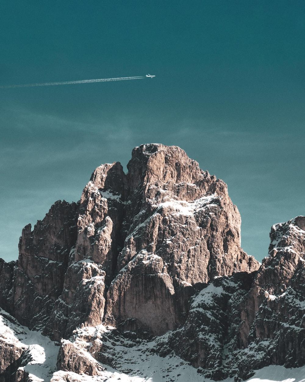 aerial photo of mountain range