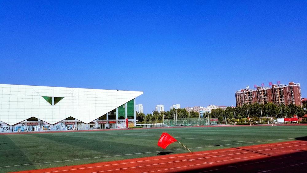 landscape photo of ballpark