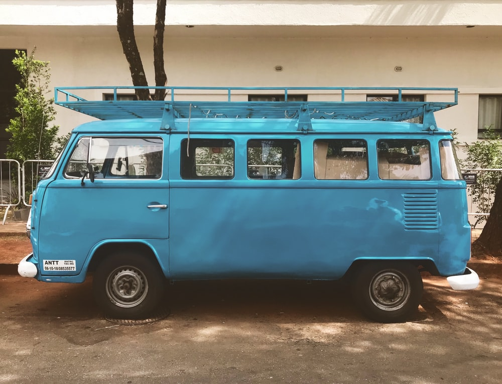 teal Volkswagen Samba