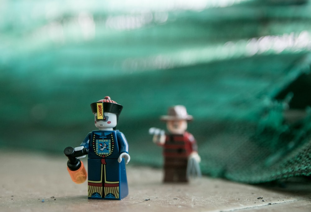 selective focus photo of LEGO minifig