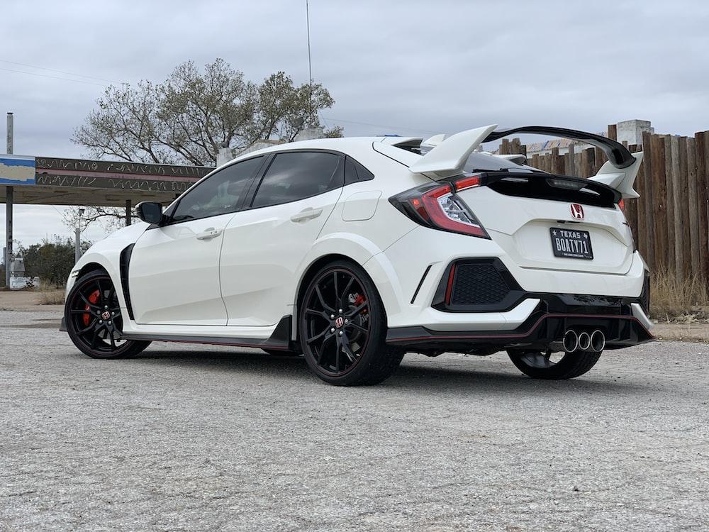 white Honda sedan
