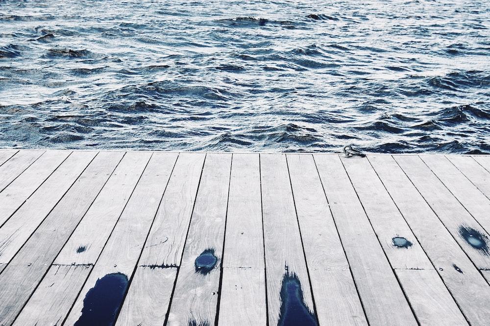 beach dock during daytime