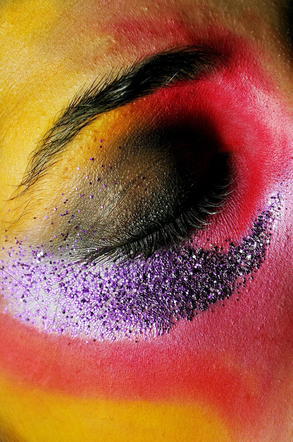 close-up of human's eye