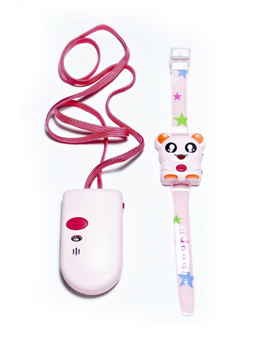 pink 2-piece watch toy set