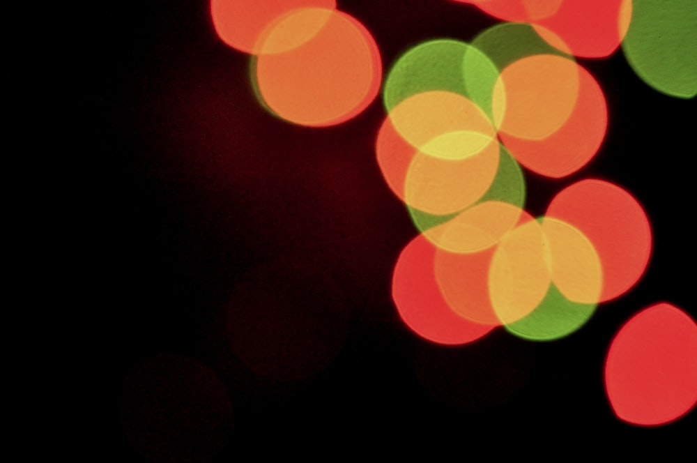 red and green bokeh lights