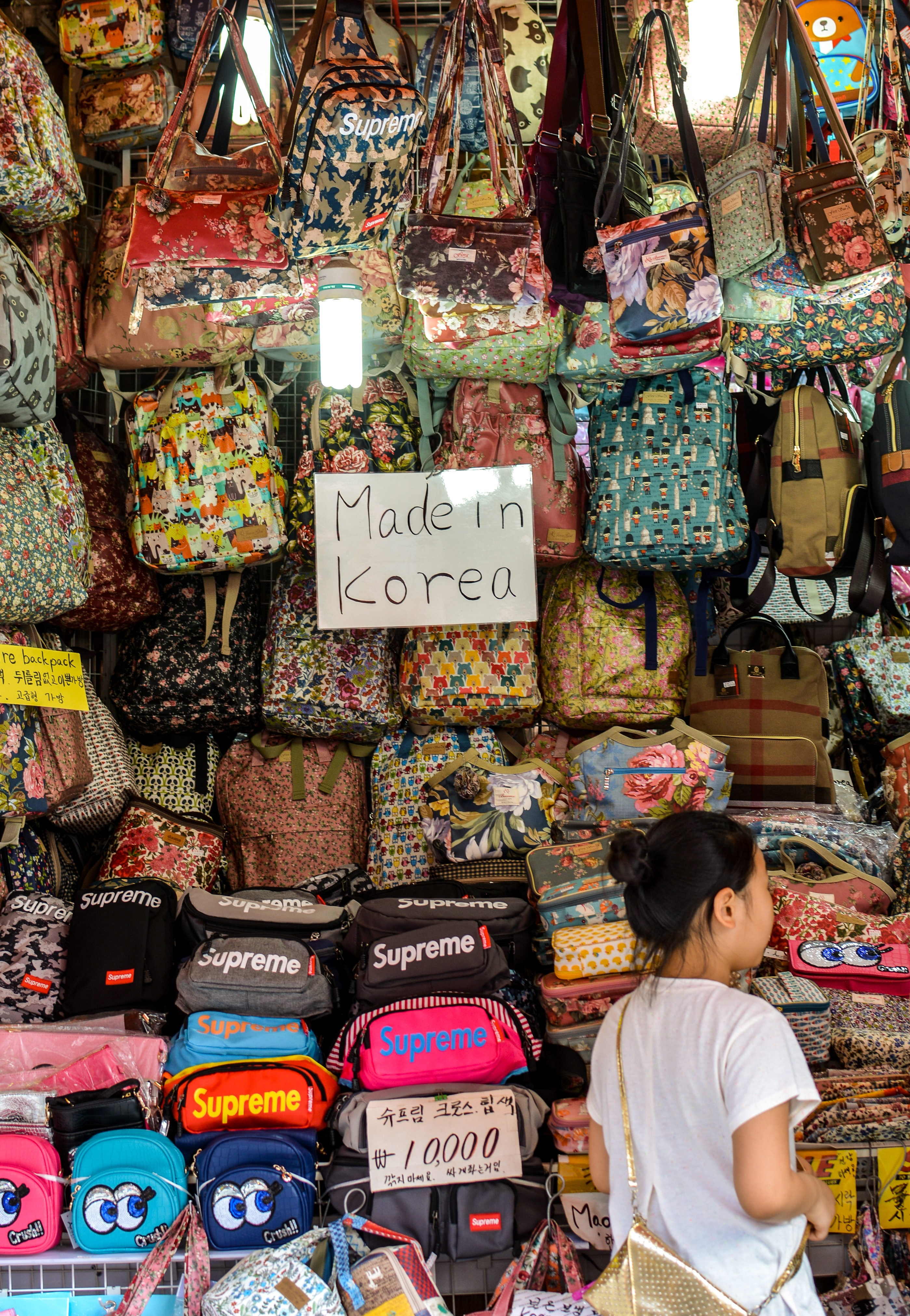 assorted color leather handbag lot