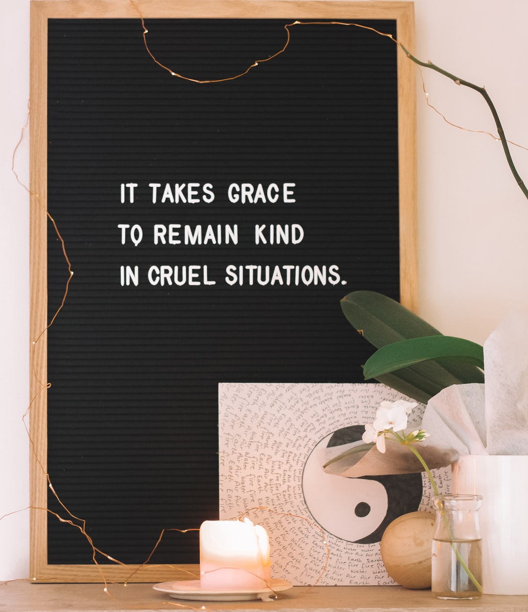 After breaking up with my then boyfriend, I found comfort in words. This one really struck a chord with me. It's easy to blame, to get angry, to take things out on others. But to remain kind, soft and understanding through such a difficult situation - That takes grace.