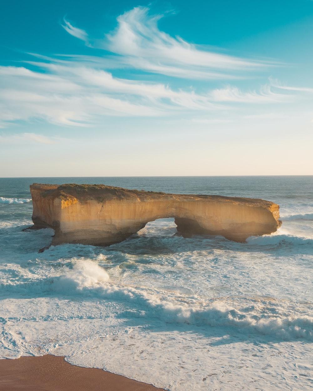 boulders body of water